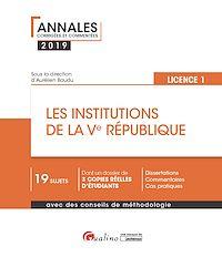 Télécharger le livre : Les institutions de la Ve République - L1-S2