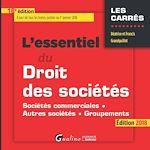 Télécharger le livre :  L'essentiel du droit des sociétés 2018 - 16e édition