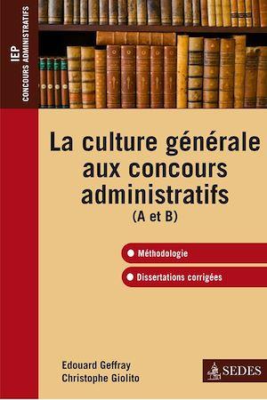 Téléchargez le livre :  La culture générale aux concours administratifs (A et B)
