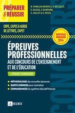 Télécharger le livre :  Préparer et réussir les épreuves professionnelles aux concours de l'enseignement et de l'éducation