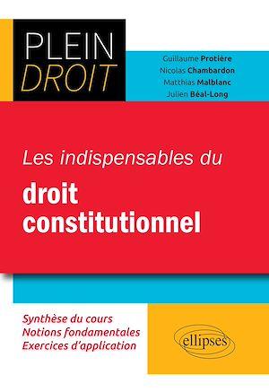 Téléchargez le livre :  Les indispensables du droit constitutionnel