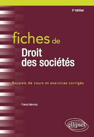 Téléchargez le livre :  Fiches de Droit des sociétés - 3e édition