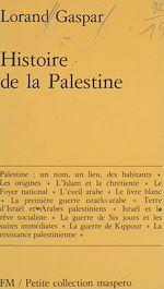 Télécharger le livre :  Histoire de la Palestine