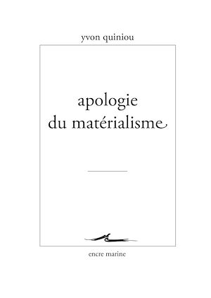 Téléchargez le livre :  Apologie du matérialisme