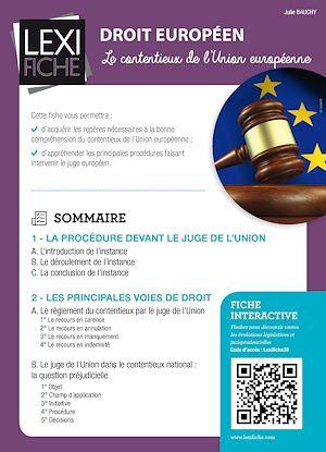 Téléchargez le livre :  Droit européen - Le contentieux de l'Union européenne