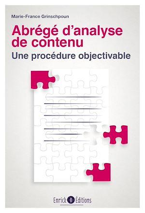 Téléchargez le livre :  Abrégé d'analyse de contenu