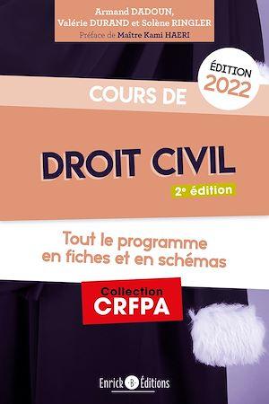 Téléchargez le livre :  Cours de droit civil 2022