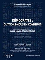 Télécharger le livre :  Démocrates : qu'avons-nous en commun?