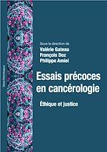 Télécharger le livre :  Essais précoces en cancérologie