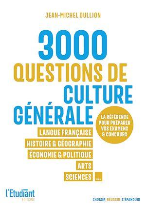Téléchargez le livre :  3000 QCM de culture générale