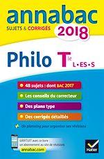 Télécharger le livre :  Annales Annabac 2018 Philosophie Tle L, ES, S