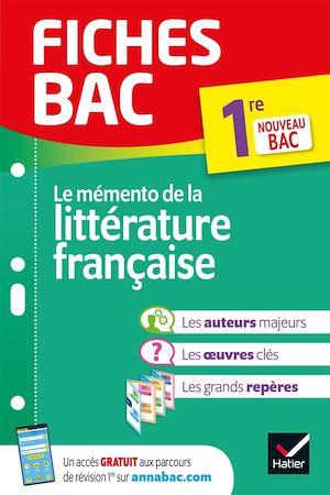 Téléchargez le livre :  Fiches bac Mémento de la littérature française 1re