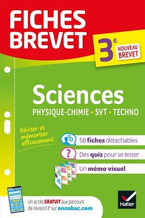 Téléchargez le livre :  Fiches brevet Sciences 3e : Physique-Chimie, SVT, Technologie