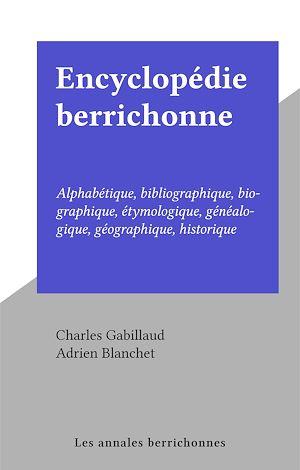 Téléchargez le livre :  Encyclopédie berrichonne