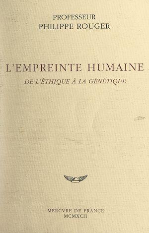 Téléchargez le livre :  L'empreinte humaine