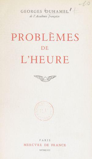 Téléchargez le livre :  Problèmes de l'heure