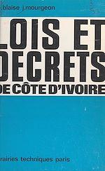 Télécharger le livre :  Lois et décrets de Côte-d'Ivoire