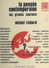 Télécharger le livre : La pensée contemporaine : les grands courants