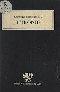 Télécharger le livre : L'ironie
