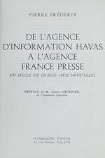 Télécharger le livre :  De l'agence d'information Havas à l'Agence France Presse