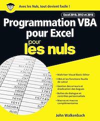 Télécharger le livre : Programmation VBA pour Excel 2010, 2013 et 2016 pour les Nuls