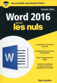 Télécharger le livre : Word 2016 pour les Nuls poche, 2e édition