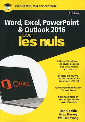 Téléchargez le livre :  Word, Excel, PowerPoint et Outlook 2016 pour les Nuls mégapoche, 2e édition