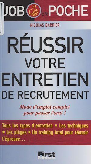 Téléchargez le livre :  Réussir votre entretien de recrutement