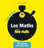 Télécharger le livre :  Les mathématiques pour les Nuls - Vite et bien