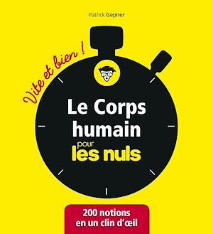Téléchargez le livre :  Le corps humain pour les Nuls - Vite et bien