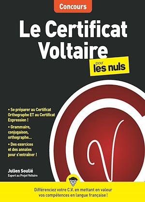 Téléchargez le livre :  Le Certificat Voltaire pour les Nuls Concours, grand format