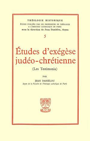 Téléchargez le livre :  Etudes d'éxégèse judéo-chrétienne, Les testimonia