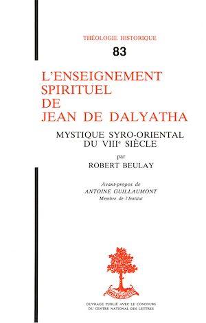Téléchargez le livre :  L'enseignement spirituel de Jean de Dalyatha