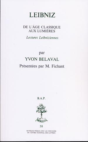 Téléchargez le livre :  Leibniz - De l'âge classique aux lumières