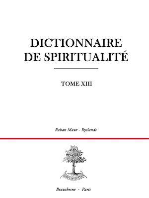 Téléchargez le livre :  Dictionnaire de spiritualité - Tome 13 : R