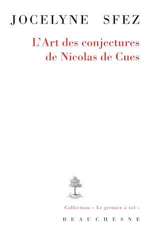 Téléchargez le livre :  L'art des conjectures de Nicolas de Cues