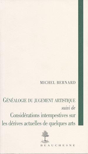 Téléchargez le livre :  Généalogie du jugement artistique