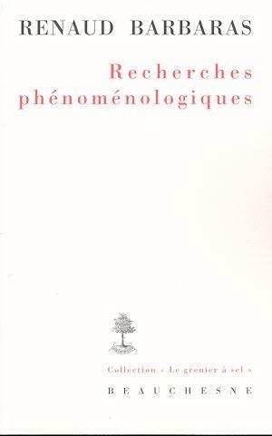 Téléchargez le livre :  Recherches phénoménologiques