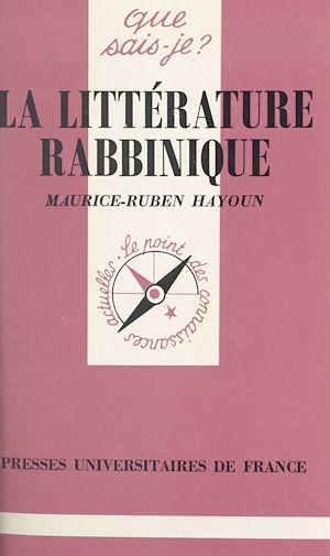 Téléchargez le livre :  La littérature rabbinique