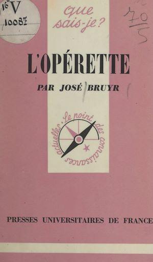 Téléchargez le livre :  L'opérette