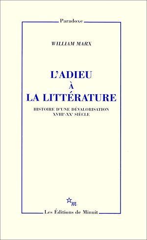 Téléchargez le livre :  L'Adieu à la littérature