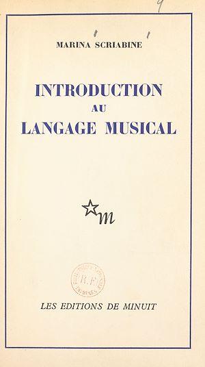 Téléchargez le livre :  Introduction au langage musical