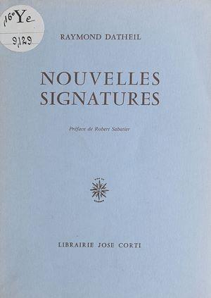 Téléchargez le livre :  Nouvelles signatures