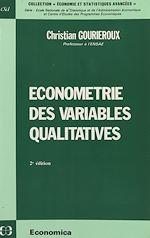 Télécharger le livre :  Économétrie des variables qualitatives