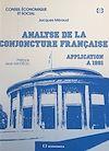 Téléchargez le livre numérique:  Analyse de la conjoncture française : application à 1991