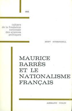 Téléchargez le livre numérique:  Maurice Barrès et le nationalisme français