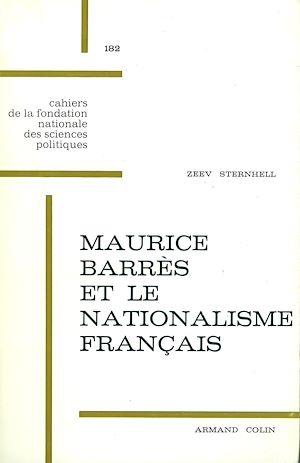 Téléchargez le livre :  Maurice Barrès et le nationalisme français