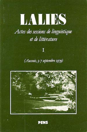 Téléchargez le livre :  Lalies 01