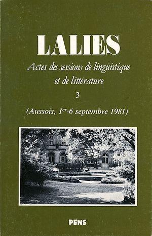 Téléchargez le livre :  Lalies 03
