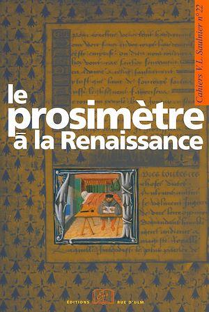 Téléchargez le livre :  Le prosimètre à la Renaissance